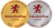 Médaille Concours International de LYON 2015 - Le Temple de Tourteyron